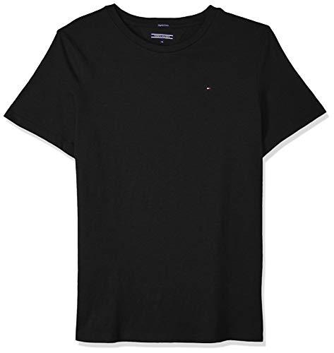 Tommy Hilfiger Jungen Boys Basic Cn Knit S/S T-Shirt, Schwarz (Meteorite 055), 164 (Herstellergröße: 14)