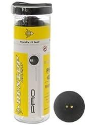 Dunlop Pro 3 Bola Tubo Pelotas De Squash - Doble Amarillo