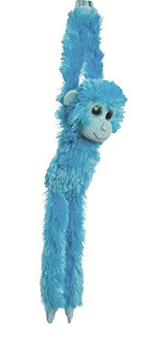 Animale di peluche ciondolante appeso Scimmia, colore: blu, Animale coccoloso di ca. 49 cm, insieme al burro per il corpo, 7ml