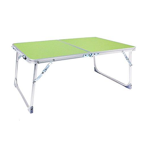 Yoport Bett Tablett, Faltbare Laptop Schreibtisch Tisch Tablett, tragbarer Camping Tisch, Frühstück Tablett mit Beinen, 58,9x 40,9cm (blau), grün