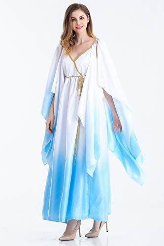 MY Griechische Göttin Kostüm Athena Erwachsene Rollenspielanzug Halloween Cosplay Anzug Farbverlauf Kleid für Frauen (Size : M) (Griechische Athena-kostüme Göttin)