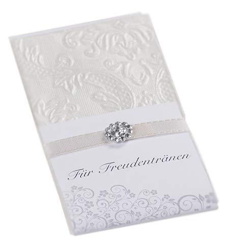 10 Taschentücher Freudentränen Hochzeit TT0037 champagner