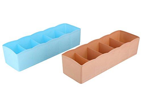 Miamour 2 Piece Plastic Underwear Storage Box