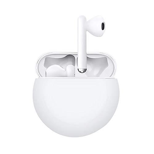 QULLOO Étuis Huawei Freebuds 3 Coque Silicone, [Ultra-Mince] [Supporte la Charge sans Fil] Housse de Protection pour Huawei Freebuds 3 - Blanc