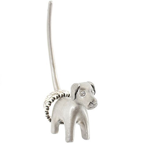 Silver coloured Dog ring holder