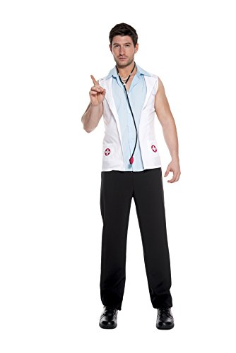 Men's Sexy Doctor Fancy Dress Costume Large