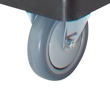 Servier-Tischwagen – 2 Etagen, 1 Schiebebügel Tragfähigkeit 150 kg – Beistellwagen Tischwagen Wagen Werkstattwagen Etagenwagen Kunststoff-Wagen Plattformwagen - 5