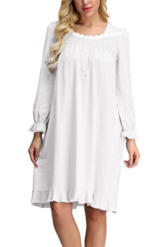 Zexxxy - Camisón - para Mujer Blanco S