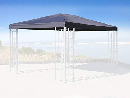 Quick-Star Ersatzdach für Blätter Pavillon 3x4m Pavillondach Grau Ersatzbezug