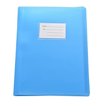 Blue - Pack of 2 A4 104 Pockets 208 Views Office Home School Flexi Cover Coloured Display Book Presentation Document Organiser Folder Storage Case Wallets By Arpan