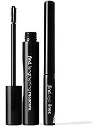FIND - Metallic Mist - Verlängernde Mascara (schwarz) + Eyeliner (metallblau)
