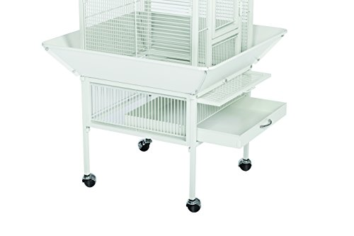 Prevue Hendryx 3151C Pet Products Wrought Iron Select Bird Cage, Chalk White,18'' x 18'' x 57'' 9