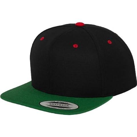 Flexfit 6089MX - Cappello per adulti, taglia unica, colore: nero/foresta/rosso