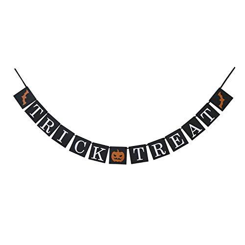 Partyprops Banner mit Trick or Treat – Halloween-Banner – Halloween-Party-Dekorationen – ()