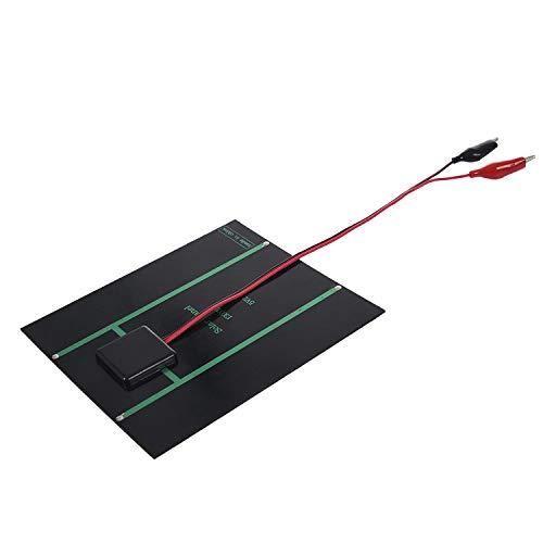 XZANTE 2.5W 5V Solarzelle Polykristalline Solarmodul-Krokodilklemme Zum Aufladen Von 3,7 V Batterie Solar Ladeger?t 150 X 130 Mm