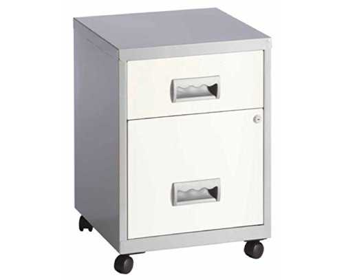 pierre henry 2 drawer maxi filing cabinet a4 color blacksilver amazoncouk office products - Small Filing Cabinet