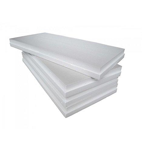 Imballaggii2000 Pannelli Polistirolo Isolanti Ideali per Isolamento Termico Pareti Soffitto e Controsoffitto Densità di 15 kg/mq 100x100x2