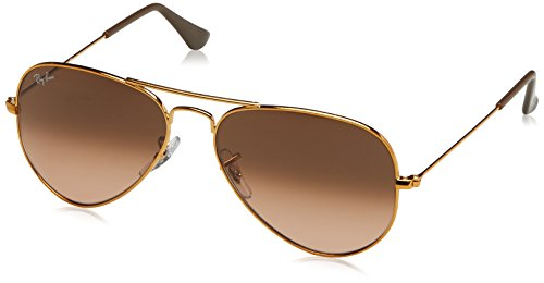Ray-Ban Unisex-Erwachsene Sonnenbrille Rb 3025 Shiny Light Bronze/Pinkgradientbrown 55