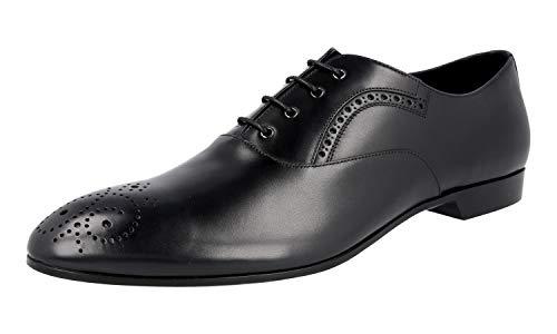Prada Herren 2EG208 V69 F0002 Full Brogue Leder Business Schuhe, Schwarz (schwarz), (45 EU)