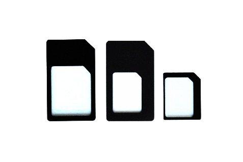 3en 1Nano SIM + Micro SIM adaptador de tarjeta SIM Adaptador Nanosim microSIM nuevo