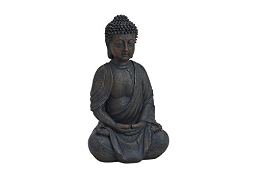 Buddha-Figur sitzend, betend 25cm in Braun - 2