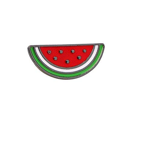 Adisaer Emaille Karikatur Brosche Damen Wassermelone Broschen Grün Rot Mädchen 1 Stück (Mädchen Ghostbusters)