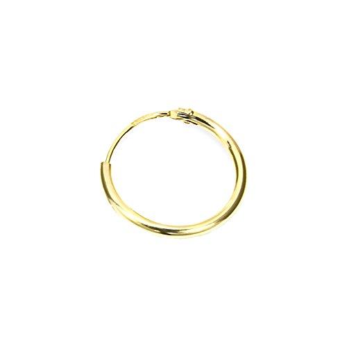 NKlaus SINGLE HERREN Creole ECHT GOLD 333 Ohrring Ohrschmuck Ohrhänger 17,5 mm 3752