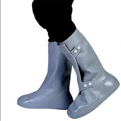 N/R PVC Rainproof Shoes Cover Men Women Winter Snow Boots Waterproof Thick Non-Slip Wear-Resistant Bottom High Tube Rain Boots Cases