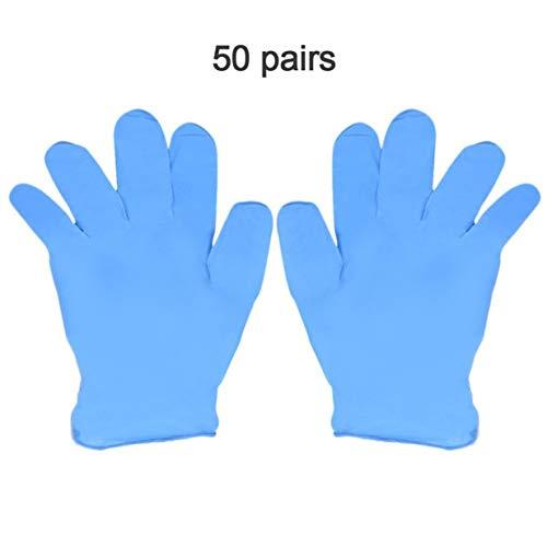 banbie8409 50 Paar Blaue Nitril-Einmalhandschuhe tragen Widerstand Chemical Laboratory Elektronik Lebensmittel Medizinische Tests Arbeitshandschuhe