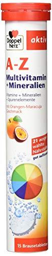 Doppelherz A-Z Brausetabletten mit Orange-Maracuja Geschmack -...