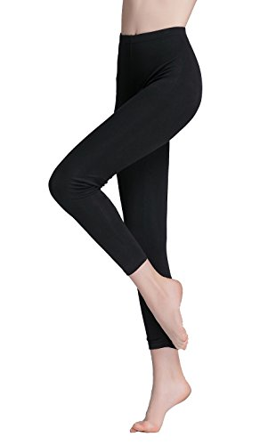 Vinconie Damen Knöchel Länge Leggings Baumwolle Pants Aktiv-Hose Sport Hosen -