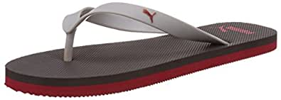 Puma Unisex OdiusDP Periscope, Glacier Grey and High Risk Red Flip Flops Thong Sandals - 8 UK/India (42EU)