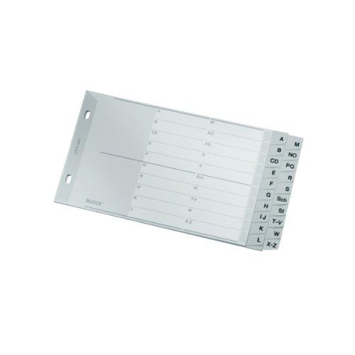 LEITZ Kunststoff-Register 1267 A-Z, A5 quer, PP, 20-teilig, grau