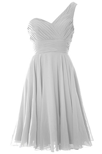 MACloth - Robe - Asymétrique - Sans Manche - Femme Blanc - Blanc