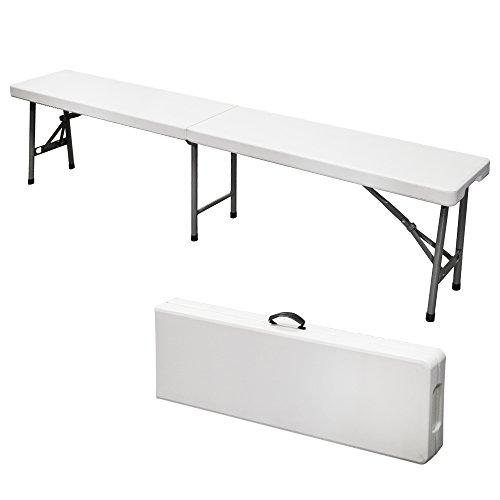 Mobile Sitzbank, zu einem Koffer zusammenklappbar, Maße der Sitzbank auseinandergeklappt: 182 x 30 x 43 cm, für Picknick und auf Reisen, 4004