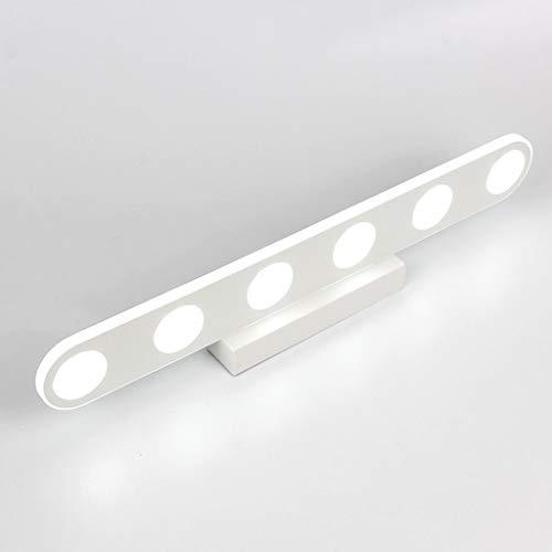 FXING & Bad Beleuchtung LED-Spiegel vorne Licht, Wasserdichte Schlafzimmer Wand Lampe Make-up-Lampe (Farbe: Rund/Weiß-47 cm/15 W)