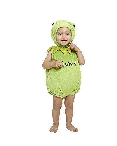 amscan Disney Baby DCKER-TA-012 - Kostüm - Die Muppet Show - Kermit der Frosch - Spieler mit Kapuze, grün (Kostüm Kapuze Die)