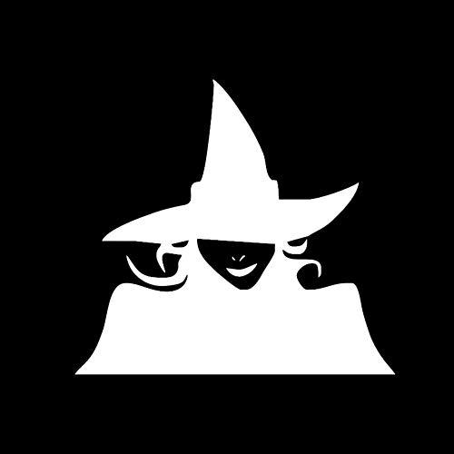 GGZZLL Auto Sticker Halloween Deko Hexe Form Reflektierender Film 2er Pack, Weiß