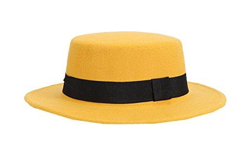 Unisex Fedora Woll Bowler Hat Floppy Jazz Derby Cap mit Band