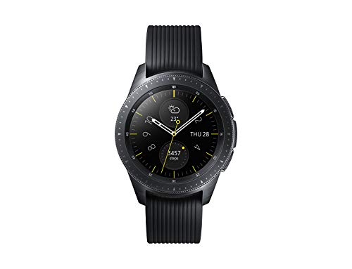 Samsung Galaxy Watch, Bluetooth 4.2, Processore 1.15 GHz, 4 GB Memoria ROM, Funzioni per fitness, GPS integrato, Nero, 42 mm [Versione Italiana]