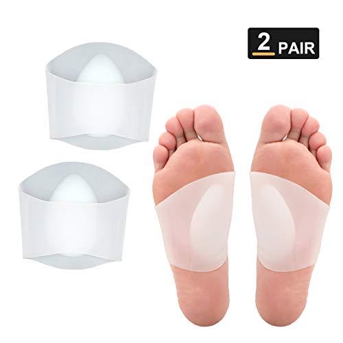 2 Paar Gel Arch Support Einlegesohlen - Original Einlegesohlen,Soft Gel Ärmel - Silikon Ärmel Kissen für Flach Fuß & Plantarfasziitis Unterstützung & Schmerzlinderung -