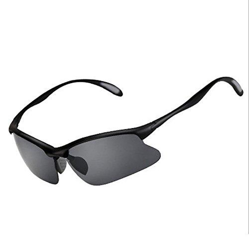 ZYPMM Polarisierte High Definition Fair Fischen Fisch Eyewear Outdoor Spezielle Schwelle Spiegel Licht Angeln Sonnenbrille Outdoor UV Schutz Männer & Frauen Universal (Color : Schwarz)