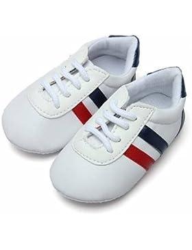 Bebé antideslizante de los zapatos Unisex del niño cordón único deslizador