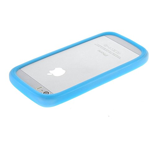 MOONCASE Housse Coque Etui Gel TPU Bumper Case Cover pour iphone 6?4.7 inch ?/ iPhone 5 5s and other SmartPhones (Less than 4.7 inch ? Rouge aqua