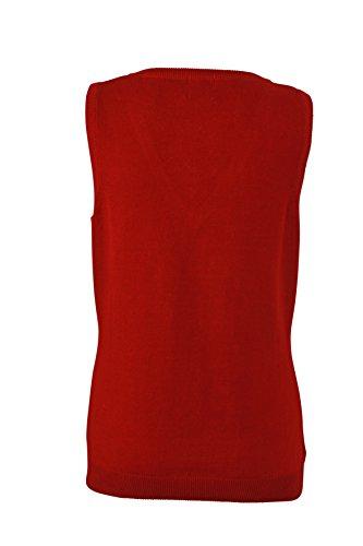 James & Nicholson T-shirt col en V Pull sans manches Occident Bordeau