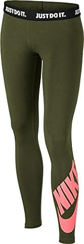 Nike G Nsw Leg A See Lggng Logo - Leggings für Mädchen, Farbe Grün, Größe S