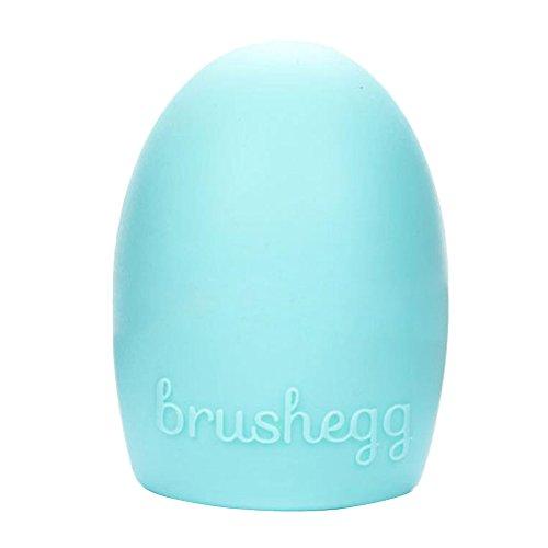 Contever® Egg Silicone Maquillage cosmétique en forme de gant Brush Finger Scrubber Board main Nettoyage Outils-Bleu