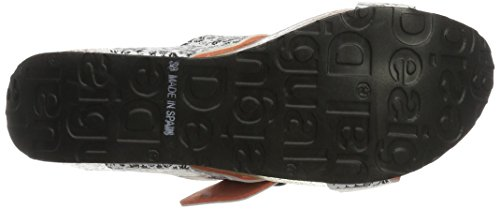 Desigual Bio8 Save the Queen Blac, Sandali Aperti Donna Nero (Negro)