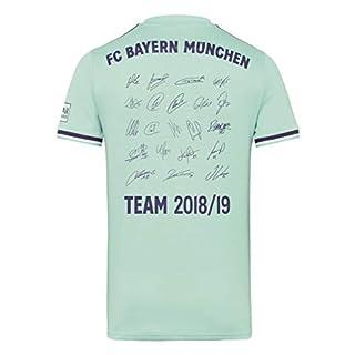 FC Bayern München Trikot Away, Unterschriften der gesamten Mannschaft als Flock, Größe S