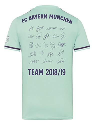 FC Bayern München Trikot Away, Unterschriften der gesamten Mannschaft als Flock, Jersey 18/19 Größe L